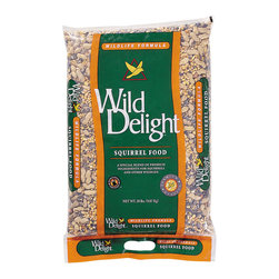Wild Delight - Squirrel Food 20 lbs. + Freight - A special blend of premium ingredients for squirrels and other wildlife. Squirrels, Raccoons, Ducks, Geese, Chipmunks and other outdoor pets. Features: Added vitamins, added minerals, electrolytes, amino acids, uniquely cleaned, whole and unprocessed pean