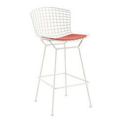 Knoll - Knoll | Bertoia Barstool with Seat Cushion, Outdoor - Design by Harry Bertoia, 1952.