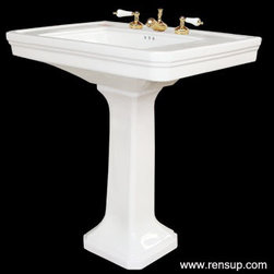 Renovator's Supply - Pedestal Sink - The classic Victorian Pedestal Sink is highly durable and gives your bathroom surroundings a beautiful appearance with its Grade A vitreous China. Item# 17817