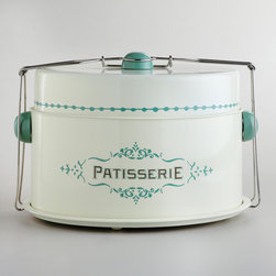 Cream Patisserie Cake Carrier - How adorable is this vintage cake carrier? Fill it with a cake, and you have quite the hostess gift.