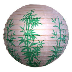 Oriental-Decor - Green Bamboo Stalks Lantern - Lovely and delicate, this bamboo stalks lantern will bring a translucent glow to your next party when lit from inside.