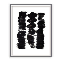 Black And White 3 Modern Art Print - BLACK AND WHITE 3 modern art print abstract picture poster wall art contemporary for home, office or business wall decor part of a set of 8