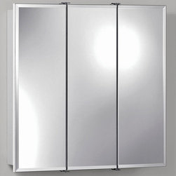 Broan-NuTone - Broan-Nutone Ashland Tri-View 24W x 24H in. Surface Mount Medicine Cabinet 75527 - Shop for Bathroom Cabinets from Hayneedle.com! The Broan-Nutone Ashland Tri-View Surface Mount Medicine Cabinet - 24W x 24H in. is all that. Durably constructed with quality laminate to withstand time in the bathroom with dowel and glue construction for maximum durability you essentially have nothing to worry about with this medicine cabinet. The mirrors all feature a .5-inch bevel around the edges. Cabinet comes fully assembled with mounting bars and hardware. Installs quickly for your convenience. About Broan-NuToneBroan-NuTone has been leading the industry since 1932 in producing innovative ventilation products and built-in convenience products all backed by superior customer service. Today they're headquartered in Hartford Wisconsin employing more than 3200 people in eight countries. They've become North America's largest producer of medicine cabinets ironing centers door chimes and they're the industry leader for range hoods bath and ventilation fans and heater/fan/light combination units. They are proud that more than 80 percent of their products sold in the United States are designed and manufactured in the U.S. with U.S. and imported parts. Broan-NuTone is dedicated to providing revolutionary products to improve the indoor environment of your home in ways that also help preserve the outdoor environment.
