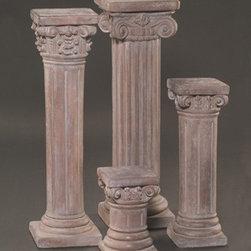 """Corinthian Pedestal, Short - Size: H13""""TW8""""BW7¾"""""""