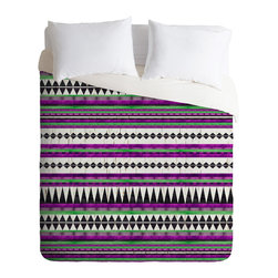 DENY Designs - Iveta Abolina Purple Navajo Duvet Cover - Turn your basic, boring down comforter into the super stylish focal point of your bedroom. Our Luxe Duvet is made from a heavy-weight luxurious woven polyester with a 50% cotton/50% polyester cream bottom. It also includes a hidden zipper with interior corner ties to secure your comforter. it's comfy, fade-resistant, and custom printed for each and every customer.