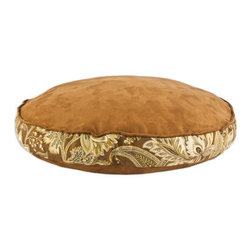 """Passion Suede Espresso 24""""  Pet Bed W/ True Timber Band - Passion Suede Espresso 24"""" Round Pet Bed with True Timber Band with Duck Black Top cording"""