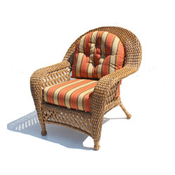 Montauk Outdoor Wicker Chair, Natural