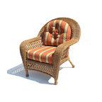 WickerParadise - Outdoor Wicker Chair - Montauk Shown in Natural - Don't hide indoors on a beautiful day. Lounge outside on this handsome aluminum-framed wicker chair featuring wide, flat arms and cozy back cushions. Mix and match with other pieces from the Montauk outdoor furniture line, and start enjoying your patio like never before.