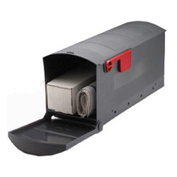 SOLAR GROUP - Rubbermaid Standard Rural Mailbox 1 - Rubbermaid Roughneck mailbox is made of highly durable polymer construction.