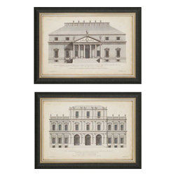 Paragon - Vintage Facade I PK/2 - Framed Art - Each product is custom made upon order so there might be small variations from the picture displayed. No two pieces are exactly alike.