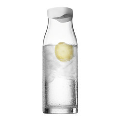 MENU - Water Carafe, White Lid - A water carafe will get years of good use in your home — especially one that can be sealed for freshness. This design will have you hydrating in style. Just add a few slices of lemon, cucumber and a sprig of mint, and you'll be ready to sit back, relax and enjoy.