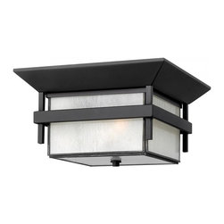 Hinkley - Hinkley Harbor One Light Satin Black Outdoor Flush Mount - 2573SK-GU24 - This One Light Outdoor Flush Mount is part of the Harbor Collection and has a Satin Black Finish. It is Outdoor Capable, and Damp Rated.