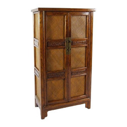 Ralph Lauren Style Wooden Cabinet - Gorgeous double door wardrobe with lots of interior options. Perfect piece for bedroom, living room or den.