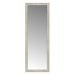 """Posters 2 Prints, LLC - 18"""" x 51"""" Libretto Antique Silver Custom Framed Mirror - 18"""" x 51"""" Custom Framed Mirror made by Posters 2 Prints. Standard glass with unrivaled selection of crafted mirror frames.  Protected with category II safety backing to keep glass fragments together should the mirror be accidentally broken.  Safe arrival guaranteed.  Made in the United States of America"""