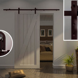 Modern Barn Door Hardware for Wood door - barn door hardware in steel, ORB finish,easy installation,space saving and quite movement,more information,please contact winson.huang2008@hotmail.com