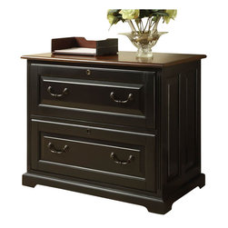 Riverside Furniture - Riverside Furniture Bridgeport  Lateral File in Antique Black - Riverside Furniture - Filing Cabinets - 7139 - A celebration of the classic office style loaded with function for today's home office. Use each piece alone or as a part of a coordinated home office collection.