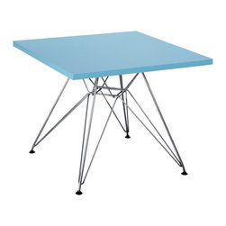 Zuo Modern - Zuo Wacky Table in Blue - Table in Blue belongs to Wacky Collection by Zuo Modern Include the Wacky children's table in every home today. With a MDF top and a chrome steel base, the Wacky table provides every child a place for reading, writing, and creating dreams. Table (1)