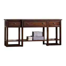 Hooker Furniture - Hooker Furniture Lorimer Sofa Table in Warm Brown - Hooker Furniture - Sofa Tables - 506580151 - Lorimer Collection: