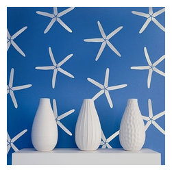 Cutting Edge Stencils - Starfish Allover Stencil Pattern - Reusable Stencils for Walls - DIY Wall Decor - Try wall stencils instead of expensive wallpaper! Cutting Edge Stencils offers the best stencils for DIY décor - stencils expertly designed by professional decorative painters Janna Makaeva and Greg Swisher who have over 20 years of painting experience. We are a reputable stencil company that stands behind its high quality product. We are honored to have your 100% positive feedback