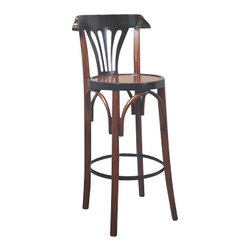 "Authentic Models - Authentic Models Black & Honey De Luxe Barstool - Timeless in style and sturdy in construction, The Authentic Models Black & Red De Luxe Barstool  is great to display in your home, bar or office. The design of our tall brasserie accessory dates back to the late 19th century when bentwood furniture was developed in Vienna and exported across Europe and the rest of the world.            * Dimensions: 40"" x 14.8"""