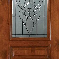 """Slab Single Door 96 Wood Alder Brazos Arch Top Arch Lite Glass - SKU#E19705ABrandGlassCraftDoor TypeExteriorManufacturer CollectionArch Top Single DoorDoor ModelBrazosDoor MaterialWoodWoodgrainKnotty AlderVeneerPrice1945Door Size Options36"""" x 96"""" (3'-0"""" x 8'-0"""")  $0Core TypeDoor StyleArch TopDoor Lite StyleArch LiteDoor Panel Style3 PanelHome Style MatchingDoor ConstructionEstanciaPrehanging OptionsSlabPrehung ConfigurationSingle DoorDoor Thickness (Inches)1.75Glass Thickness (Inches)Glass TypeTriple GlazedGlass CamingBlackGlass FeaturesTempered , BeveledGlass StyleGlass TextureGlass ObscurityDoor FeaturesDoor ApprovalsWind-load Rated , SFI , TCEQ , AMD , NFRC-IG , IRC , NFRC-Safety GlassDoor FinishesDoor AccessoriesWeight (lbs)295.2Crating Size25"""" (w)x 108"""" (l)x 52"""" (h)Lead TimeSlab Doors: 7 daysPrehung:14 daysPrefinished, PreHung:21 daysWarrantyOne (1) year limited warranty for all unfinished wood doorsOne (1) year limited warranty for all factory?finished wood doors"""