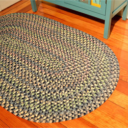 None - Smithfield Navy Indoor/ Outdoor Braided Rug (3'6 x 5'6) - Keep the kids from tracking sand into the kitchen,thanks to one of these handy outdoor braided rugs. Each rug is reversible,meaning you only have to shake it out every so often,and it features neutral shades of navy that will go well with your deck.