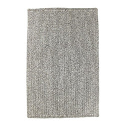 Homespice - Homespice Quick Silver Braided Rectangle Rug - Light and medium shades of silver grey offer a perfect pairing to pops of color. There is no need to compromise beauty for durability. Our Ultra Durable indoor/outdoor rugs are amazing. They resist stains from food, pets, and liquids, while adding color, texture and interest to all your living spaces. This amazing absorbent material leaves the surface below dry with most moderate spills. To clean, simply run under water in your sink or use a hose. These Ultra Durables are thinner and flatter and feature a vertical braid with anti-skid backing. Perfect for kitchens, baths, and entry ways.