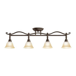 Kichler - Kichler Pomeroy 4 Light Track Lighting in Distressed Black - Shown in picture: Kichler Fixed Rail 4Lt Halogen in Distressed Black