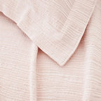Pine Cone Hill - hardwood matelasse coverlet (sunrise pink) - A modern take on the matelasse coverlet with a tone-on-tone, branchlike stripe. An ideal natural texture in a versatile neutral.��This item comes in��sunrise pink.��This item size is��various sizes.