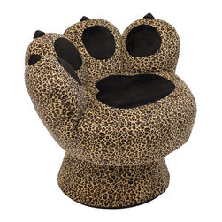 "Lumisource - Paw Chair, Leopard - 25"" L x 30.5"" W x 25.5"" H"