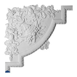 """Inviting Home - Dundee Decorative Molding Corner - decorative molding corner 28""""H x 28""""W This panel molding corner is made from high density polyurethane. The front surface of this panel molding corner has extra durable and smooth and is pre-primed with water-based white paint. POlyurethane is lightweight durable and easy to install using common woodworking tools. Metal dies were used for consistent quality and perfect part to part match for hassle free installation. This corner has sharp deep and highly defined design. This corner can be finished with any quality paints."""
