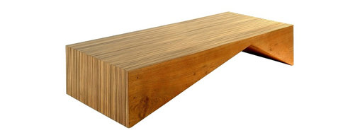 Iate Coffee Table - Rotsen Furniture designs furniture pieces integrating wood's organic characteristics with a clean, graceful, modernist aesthetic. Our team of world class artisans and craftsmen works with rare solid woods, impressive single slab live edge lumber, and large book matched slabs, making unique and sophisticated furniture for residential and commercial projects worldwide. Wood options include Tamburil, Cocobolo, Brazilian Peroba, Claro Walnut, Black Walnut, English Elm, Spalted Maple, Cherry, and African Bubinga.