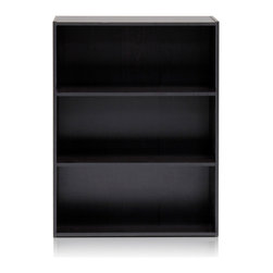 Furinno - Furinno 11208 Pasir 3 Tier Open Shelf, Espresso - Furinno Pasir Series Storage and Organization cabinet bookcase features simplicity and easy blend in with any home decor. This series are made of 12mm E1 Grade Particleboard made from recycled materials of rubber trees. All the materials are manufactured in Malaysia and comply with the green rules of production. There is no foul smell, durable and the material is the most stable amongst the particleboards. A simple attitude towards lifestyle is reflected directly on the design of Furinno Furniture, creating a trend of simply nature. All the products are produced and assembled 100-percent in Malaysia with 95% - 100% recycled materials