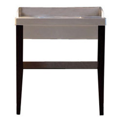 "WS Bath Collections - Bentley 3935C Bathroom Vanity Unit 47.2"" x 19.7"" - Bentley 3935C by WS Bath Collections, Bathroom Vanity Unit, Includes Ceramic Bathroom Sink with One or Three Faucet Holes, Two (2) Wooden Legs, and Glass Shelf"