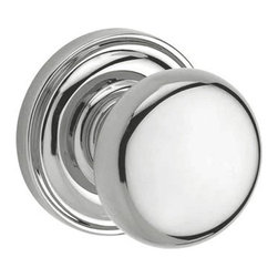 Baldwin Hardware - Baldwin Reserve Round Knob, Polished Chrome - Privacy - Privacy function