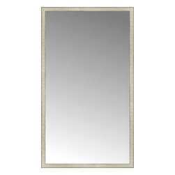 """Posters 2 Prints, LLC - 43"""" x 75"""" Libretto Antique Silver Custom Framed Mirror - 43"""" x 75"""" Custom Framed Mirror made by Posters 2 Prints. Standard glass with unrivaled selection of crafted mirror frames.  Protected with category II safety backing to keep glass fragments together should the mirror be accidentally broken.  Safe arrival guaranteed.  Made in the United States of America"""