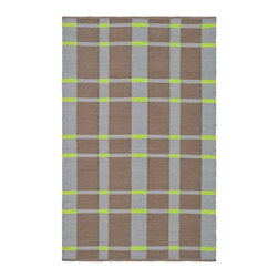 Safavieh - Indoor/Outdoor Thom Filicia 6'x9' Rectangle Lawn Green Area Rug - The Thom Filicia area rug Collection offers an affordable assortment of Indoor/Outdoor stylings. Thom Filicia features a blend of natural Lawn Green color. Handmade of Plastic the Thom Filicia Collection is an intriguing compliment to any decor.