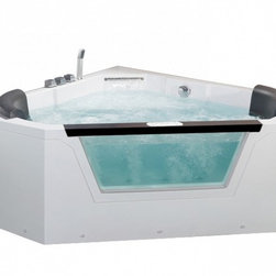 Ariel - Ariel Platinum AM156 Whirlpool Bathtub 59x59x24 - Take a dip in this elegant whirlpool bathtub. Equipped with hydro-massage jets designed to target your pressure points for a relaxing experience. Dimensions: 59 x 59 x 24, ETL listed (US & Canada electrical safety) 220v, LCD touchscreen control panel   FM Radio for Easy Listening , 22 Whirlpool Massage Jets 6 Massage Modes/ 4 intensity optioins, 1.2 HP Pump, Handheld showerhead, Chromatherapy Lighting to Set the Mood, Ozone disinfecting cleaning system, Double Drain System (Patent Design), Heat Pump, Gallons: 85.8