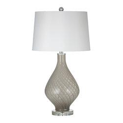 Bassett Mirror - Bassett Mirror Clara Table Lamp L2732TEC - Bassett Mirror Clara Table Lamp L2732TEC