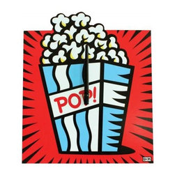 Westland - 13 Inch Squared Popcorn Theme Analog Wall Clock, Red and Blue - This gorgeous 13 Inch Squared Popcorn Theme Analog Wall Clock, Red and Blue has the finest details and highest quality you will find anywhere! 13 Inch Squared Popcorn Theme Analog Wall Clock, Red and Blue is truly remarkable.