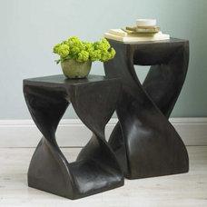 Espresso Twisty Stool - Tables - Furniture - VivaTerra