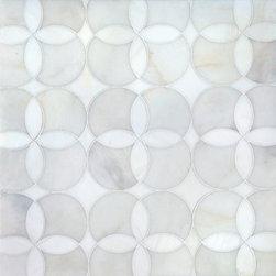 Talya Multi Finish 13 5/8x13 5/8 Constantine A D Marble Waterjet Mosaics -
