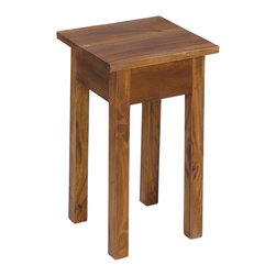Sterling Industries - Cordova Mahogany Stool - This Cordova stool is made of mahogany wood. Features simple stylish design yet functional and suitable for any room. This single person stool is a great accent piece for a wide range of settings. Perfect for living room, family room, play room or bedroom. Wipe clean with clean damped cloth. Avoid using harsh chemicals. Available in natural stain on mahogany with natural color.