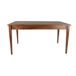 Fable Porch Furniture - Cherry Shaker Revival Dining Table - Bench made from locally harvested solid American cherry with great natural character!