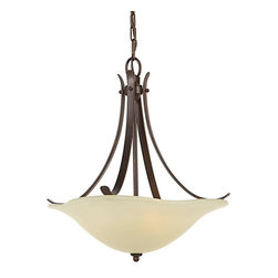 Murray Feiss - 3 Bulb Grecian Bronze Chandelier - - UL Approved.