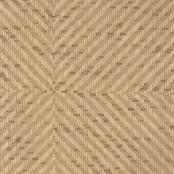 Hudson Chevron Check - Linen - Ralph Lauren's collection of woven wallpapers from the Textures III book.