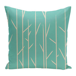 e by design - Branches Jade 16-Inch Cotton Decorative Pillow - - Decorate and personalize your home with coastal cotton pillows that embody color and style from e by design  - Fill Material: Synthetic down  - Closure: Concealed Zipper  - Care Instructions: Spot clean recommended  - Made in USA e by design - CPO-NR7-Jade-16