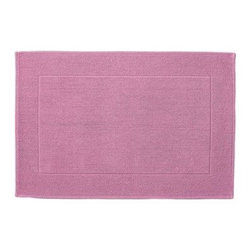 "Serena & Lily - Textured Cotton Bath Mat Juice (24x36"") - Loops of comfy cotton create a great texture that our feet (and eyes) can't get enough of. Thick and absorbent, it's heavenly for the bath and a great new basic."