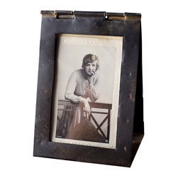 C.G. Sparks - Rickard Picture Frame - Large - The perfect way to display timeless memories, accented by a bit of rustic character. The Rickard Picture Frame is hand-crafted using salvaged steel, and due to the hand-built construction process, slight variations that enhance the piece's character should be expected. Photo display area measures 3.5 W x 5.5 H