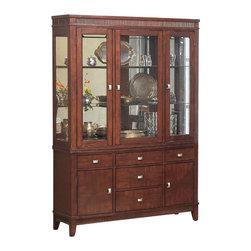 Alpine Furniture - Saratoga Hutch & Buffet - Saratoga Hutch & Buffet